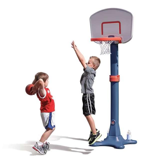735700-U-B Step2 Durable Adjustable Child Pro Basketball Hoop and Ball, Blue (Used) 1