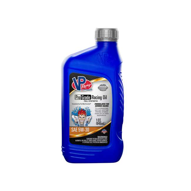 12 x 2725 VP Racing Fuels 2725 Full Synthetic Pro Grade Racing Oil, Quart Bottle SAE 5W-30 (12 Pack) 1