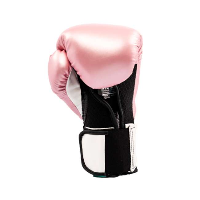 P00001196-U-A Everlast Elite Pro Style Leather Boxing Gloves Size 12 Oz, Pink (Open Box) 3