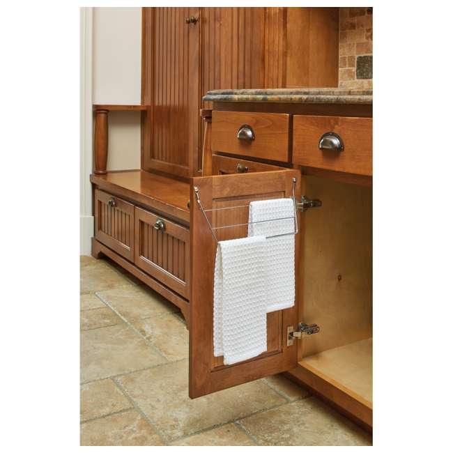 563-32 C Rev A Shelf 563-32 Kitchen Vanity Cabinet Door Mount Dish Towel Holder, Chrome 2