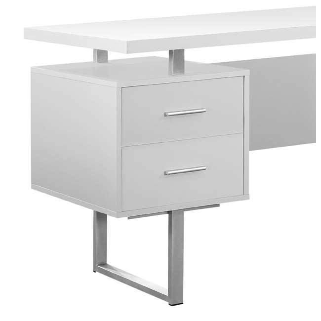 VM-7081 + VM-7048 Monarch 60 Inch Office Computer Desk w/ Filing Drawer & 3 Drawer Filing Cabinet 3