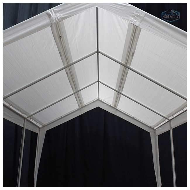 EX1220 King Canopy 12 x 20, 20 x 20 Foot Universal Canopy White 2