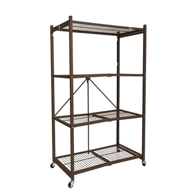 R5-VBW-2 Origami 4-Shelf Foldable Storage Racks, Vintage Bronze (Pair) 1