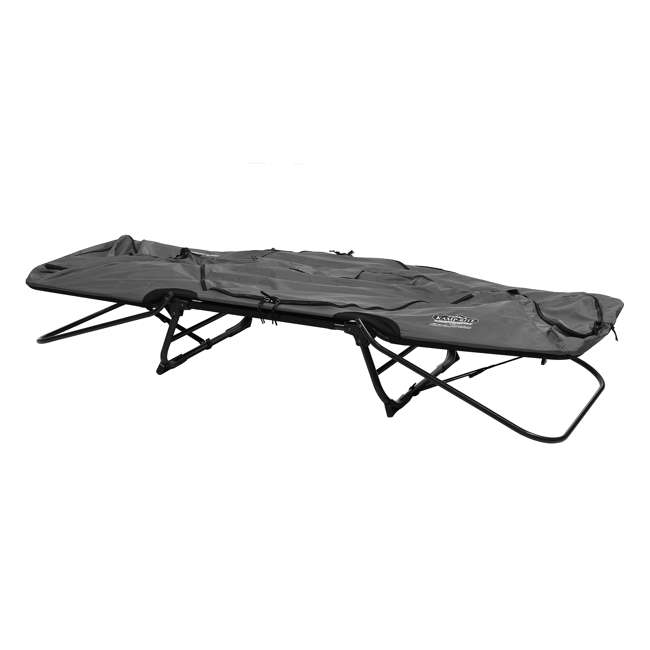 TC247 + KAMPGSB101 Kamp-Rite Original Tent Cot Folding Camping and Hiking Bed for 1 Person + Valuables Storage Bag  7