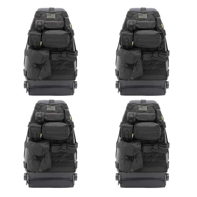 4 x 5661001-SMITTYBILT Smittybilt GEAR 1976-2013 Jeep Storage Bag Front Seat Cover (4 Pack)