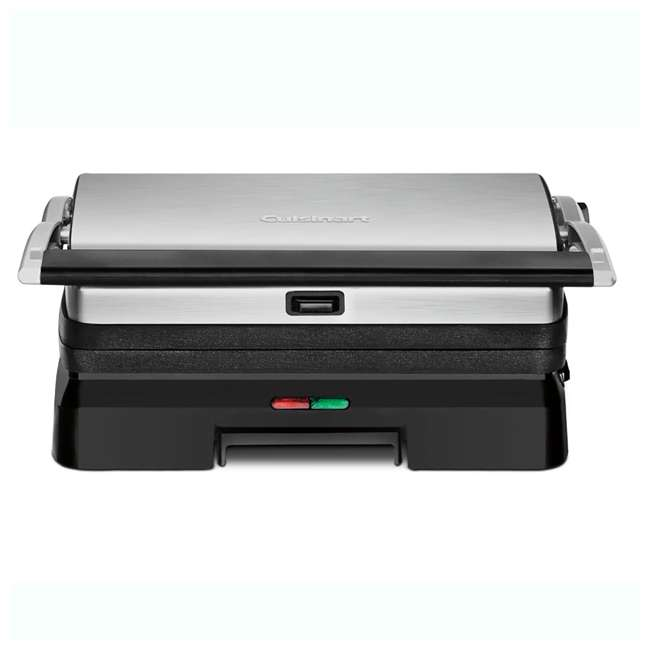 GR-11-RB Cuisinart Stainless Steel Griddler Grill & Panini Press (2 Pack) (Certified Refurbished) 5