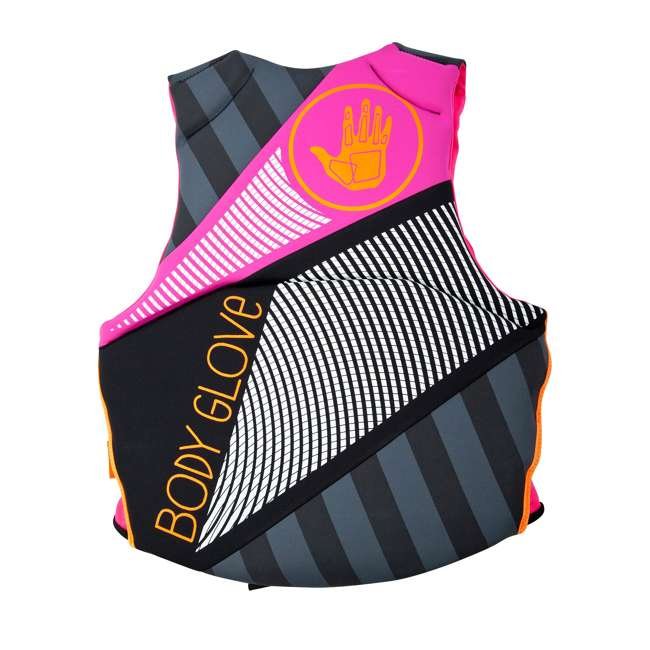 16224W-BLKPNK-XL LNK1 - Body Glove Phantom USCGA Neoprene PFD Life Vest X-Large, Pink/Black 1