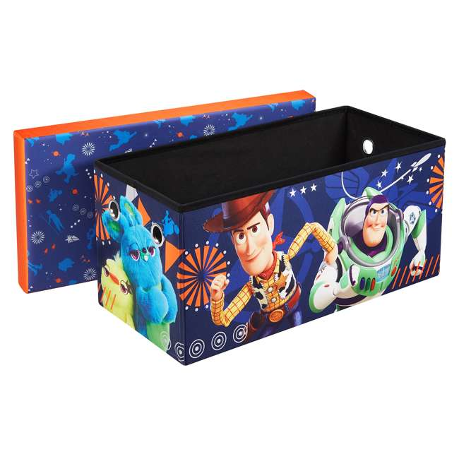 520021-002 Fresh Home Elements 30-Inch Licensed Folding Super Toy Chest & Bench, Toy Story 1
