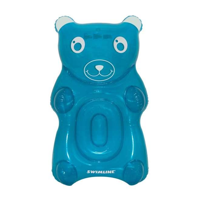 SL-90742M Swimline Gummy Bear Float Inflatable Vinyl Pool Lounger, Blue