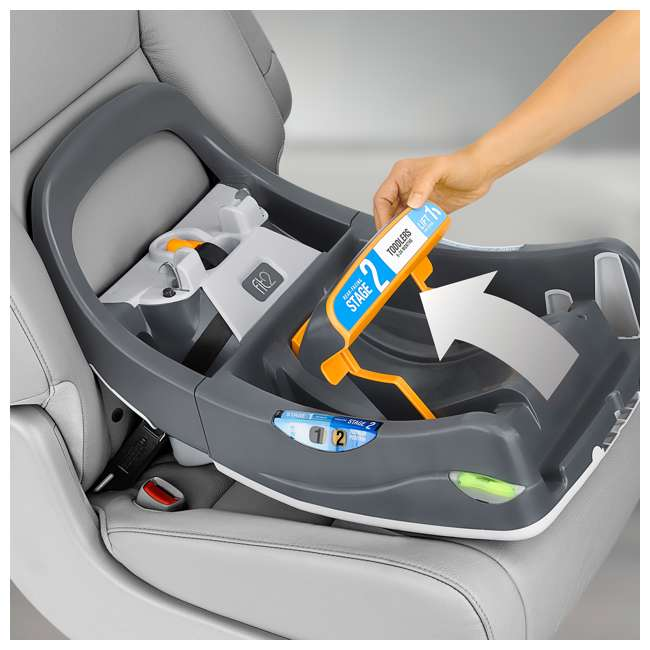 CHI-0407977128 Chicco Fit2 Infant/Toddler Rear Facing Car Seat w/ 2 Stage Base, Tullio Blue 7