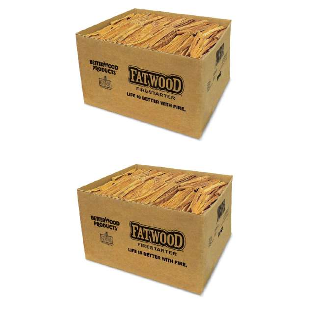 BWP-09925 Betterwood Products Natural Hand Split Fatwood 25 Pound Firestarter (2 Pack)
