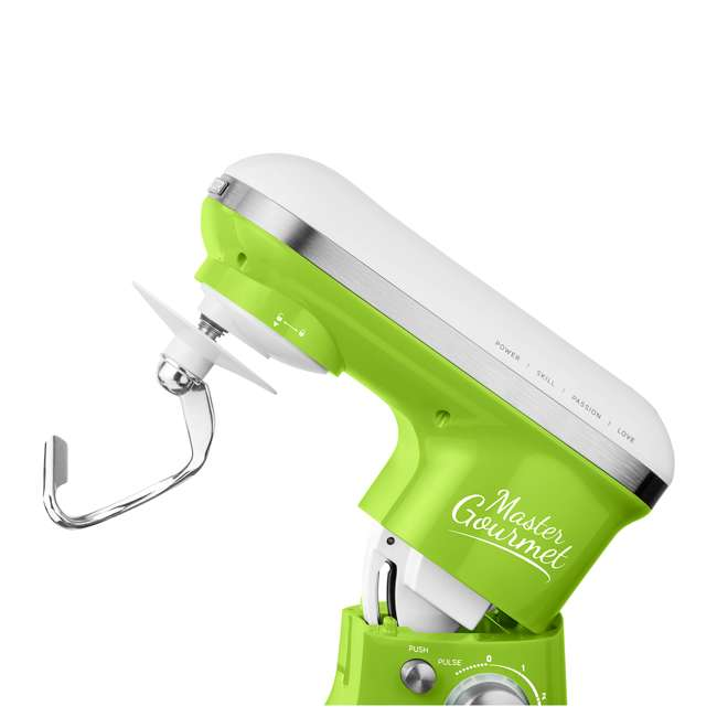 STM3621GR-NAA1 Sencor STM 3620WH 4.2 Quart 6 Speed Food Mixer with Stainless Steel Bowl, Green 5