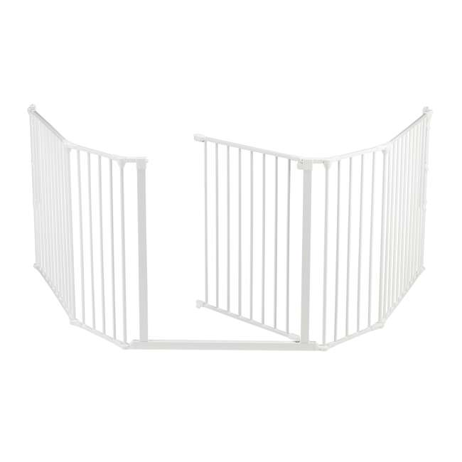 "BBD-56814-10400 BabyDan Flex Hearth 35.4-109.5"" XL Size Safety Baby Gate for Fireplace, White 2"
