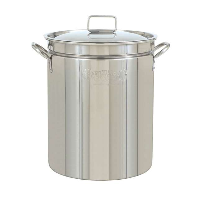 1036 Bayou Classic 36 Quart Stainless Steel Boil Fry Steam Cook Soup Stockpot w/ Lid