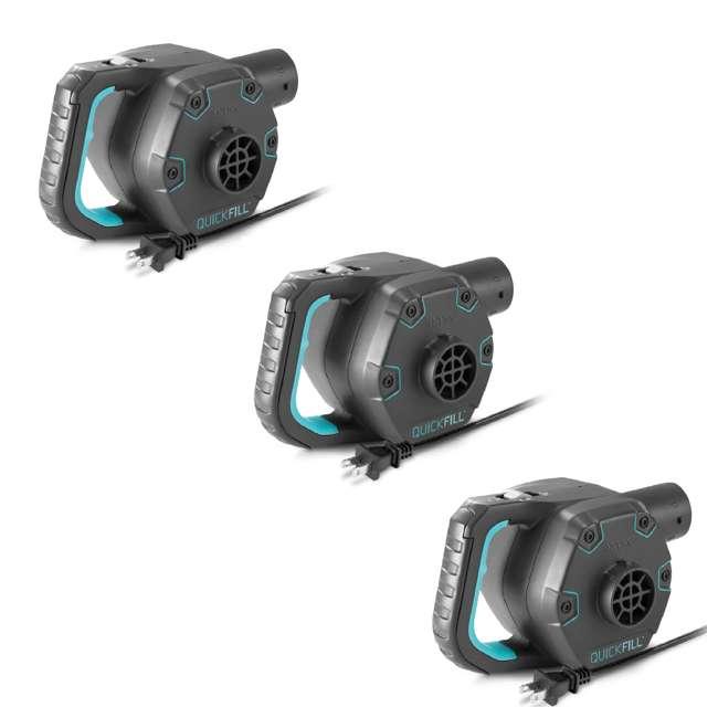 3 x 66643E Intex 120 Volt AC Electric 38.9 CFM Inflatable Float & Air Bed Pump (3 Pack)