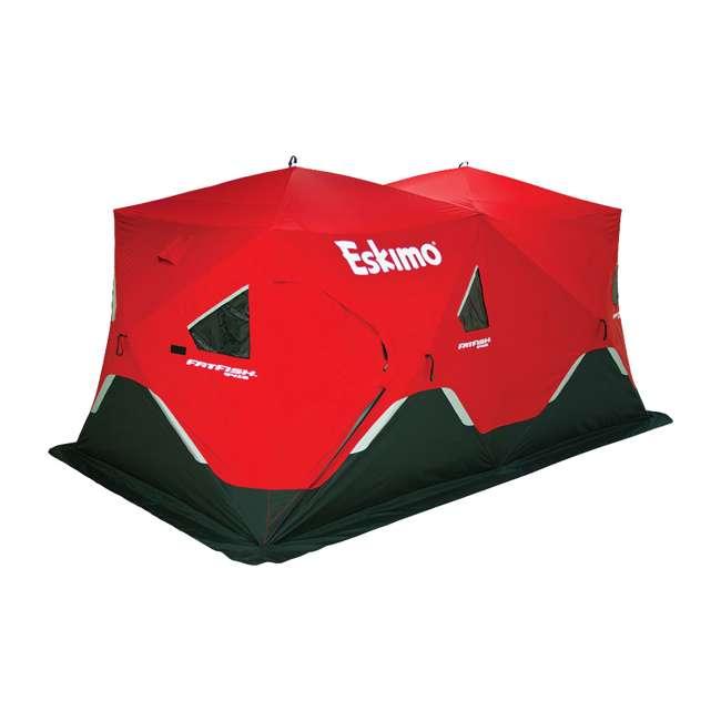 ESK-FF9416-U-B Eskimo FatFish Portable 7-9 Person Pop Up Ice Fishing Shanty Shelter Hut (Used) 1