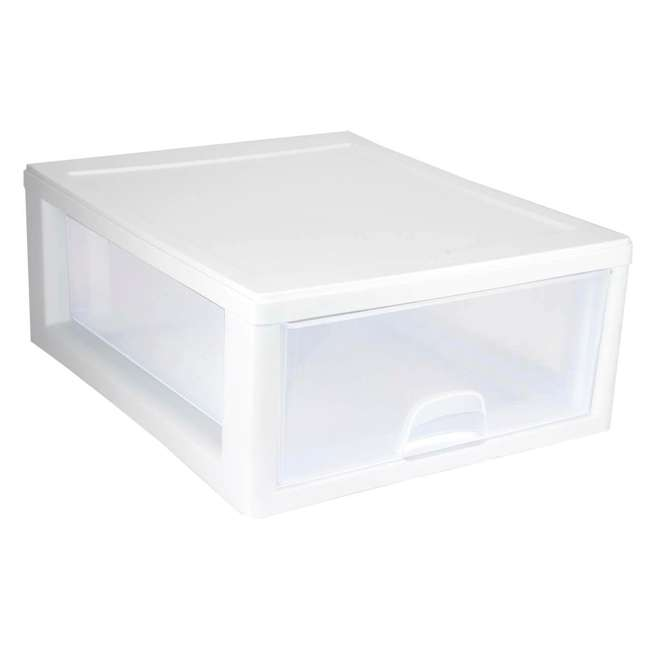 24 x 23018006-U-A Sterilite 16-Quart Single Box Modular Stacking Container (Open Box) (24 Pack) 1