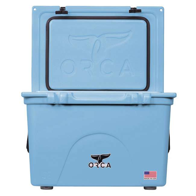 ORCLB058 Orca ORCLB058 58 Quart 72 Can Roto Molded Insulated Ice Chest Cooler, Light Blue 4