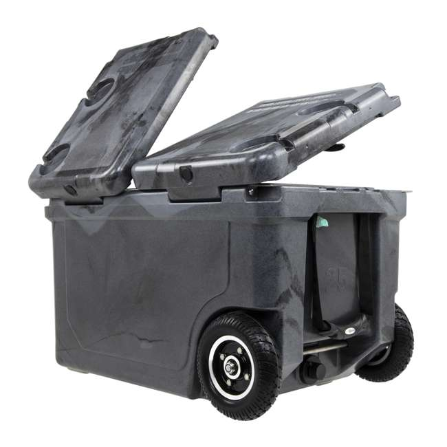 HC50-SB WYLD HC50-SB 50 Qt. Dual Compartment Insulated Cooler w/ Wheels, Black/Silver 1