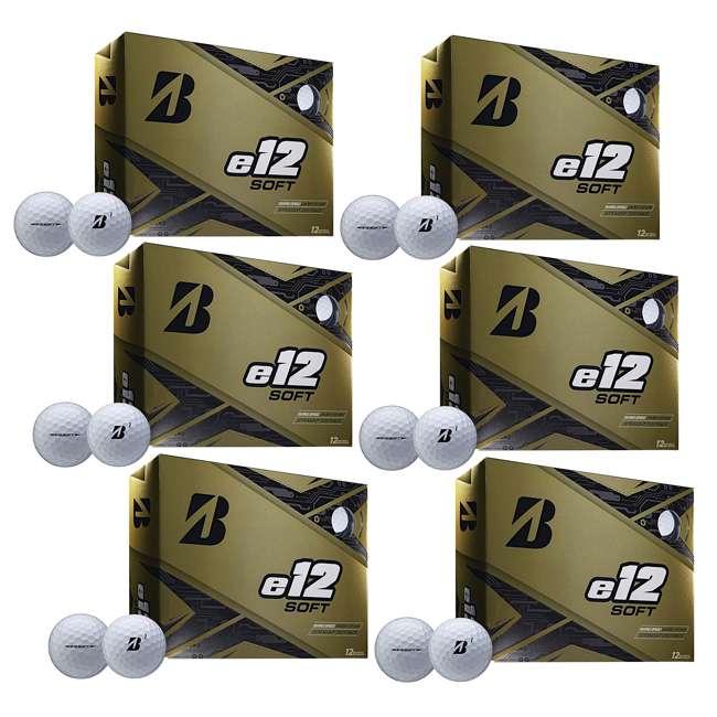6 x 9CWX6D Bridgestone Golf Series e12 Soft 3-Piece Distance Golf Balls, White (6 Dozen)