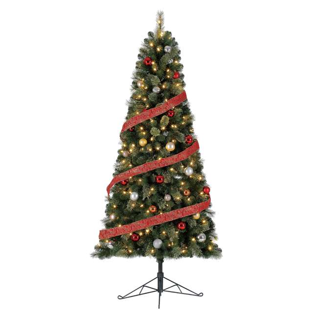 TG70M2AKML00 Home Heritage Cashmere 7 Foot Artificial Christmas Half Tree with LED Lights 1