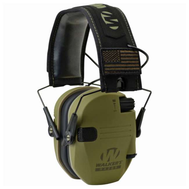 GWP-RSEMPAT-ODG Walker's Razor Slim Patriot Series Shooting Ear Protection Muff, Olive Green