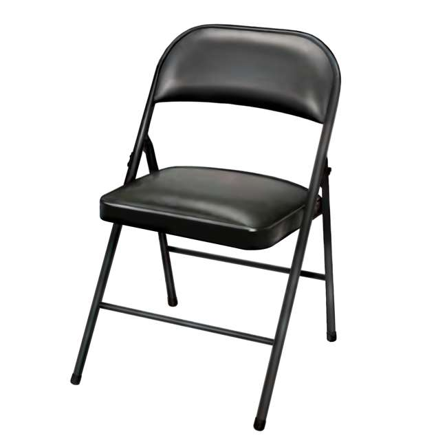 TGT8104PK Plastic Development Group Indoor Metal Padded Folding Party Chair (4 Pack) 1
