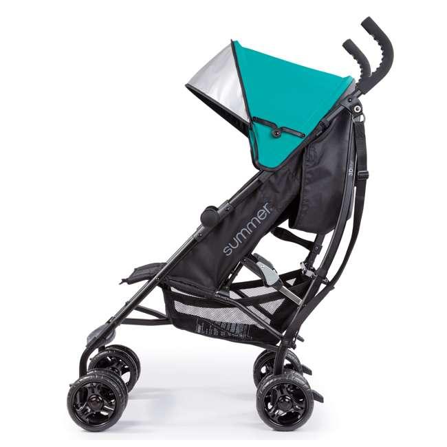 32693 Summer Infant 3Dlite Lightweight Folding Convenience Toddler Baby Stroller, Teal 4
