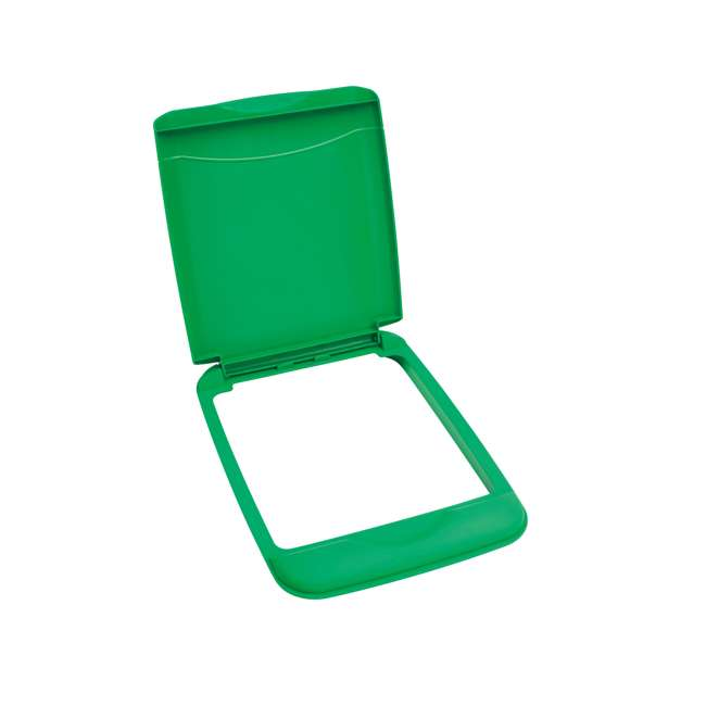 RV-35-LID-G-1 Rev-A-Shelf RV-35-LID-G-1 35 Quart Waste Container Trash Recycling Lid, Green