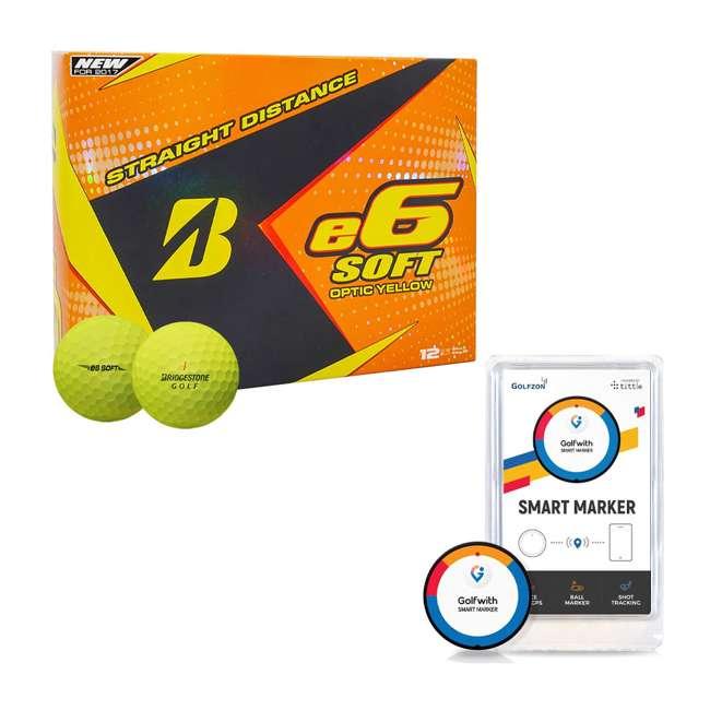 6SYX6D + PGSMGps Bridgestone Straight Distance Golf Balls + Golfwith Smart Marker Shot Tracker