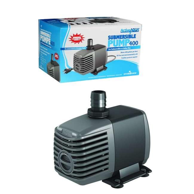 Active aqua submersible pump 4 hydrofarm 400 gph for Hydroponic submersible pump