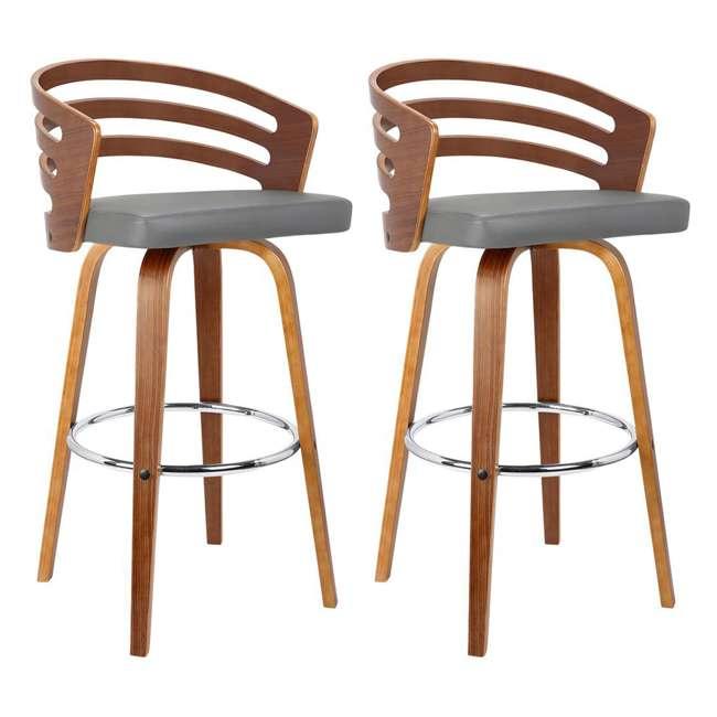 LCJYBAGRWA30 Armen Living Jayden 30 Inch Mid Century Swivel Barstool Chair, Gray (2 Pack)