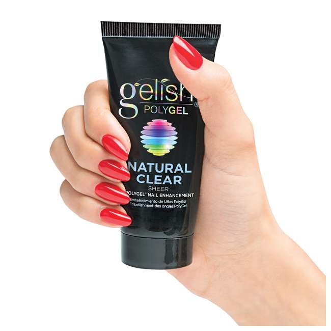 6 x 1712001-NATURAL Gelish PolyGel Nail Enhancement Natural Clear Sheer Shade, 2 Ounces (6 Pack) 6