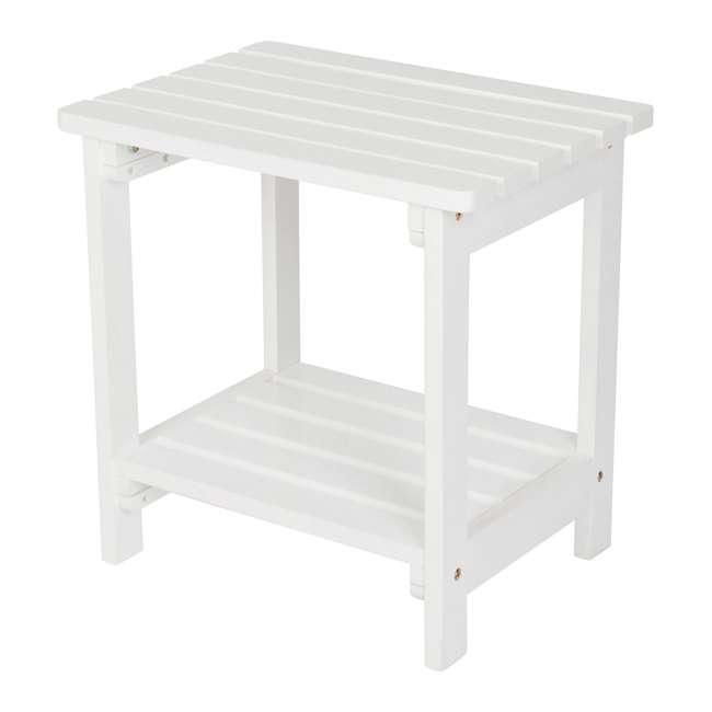 SHN-4104WT Rectangular 19-Inch Side Table, White