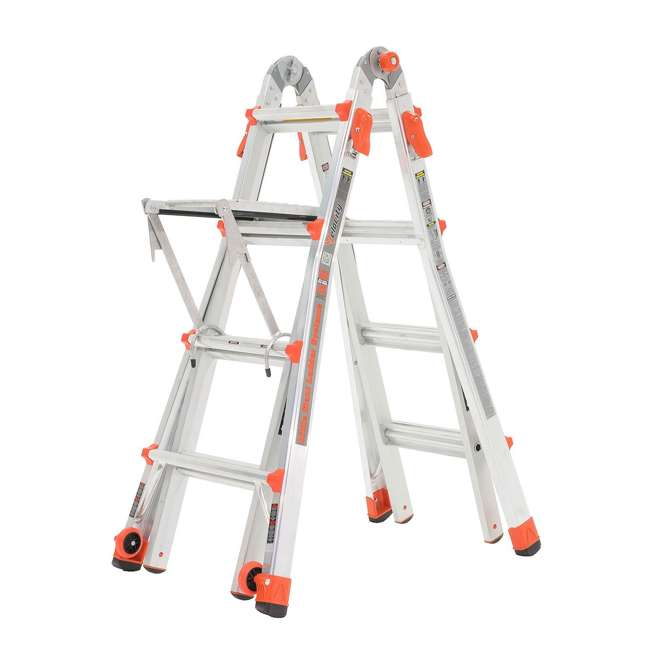 LGL-15417-104-U-A Little Giant 15' Aluminum Adjustable Folding Ladder & Work Platform (Open Box) 6