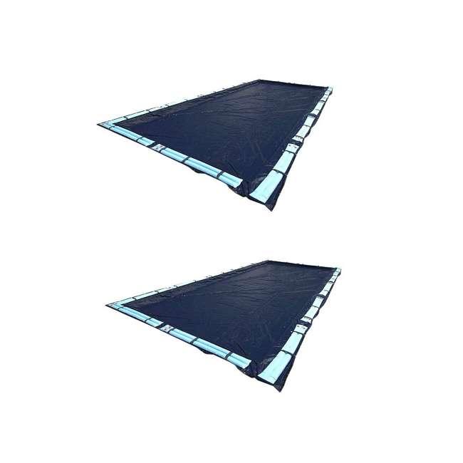 S1632RC Swimline 16x32 Feet Blue Winter Rectangular Swimming Pool Cover (2 Pack)