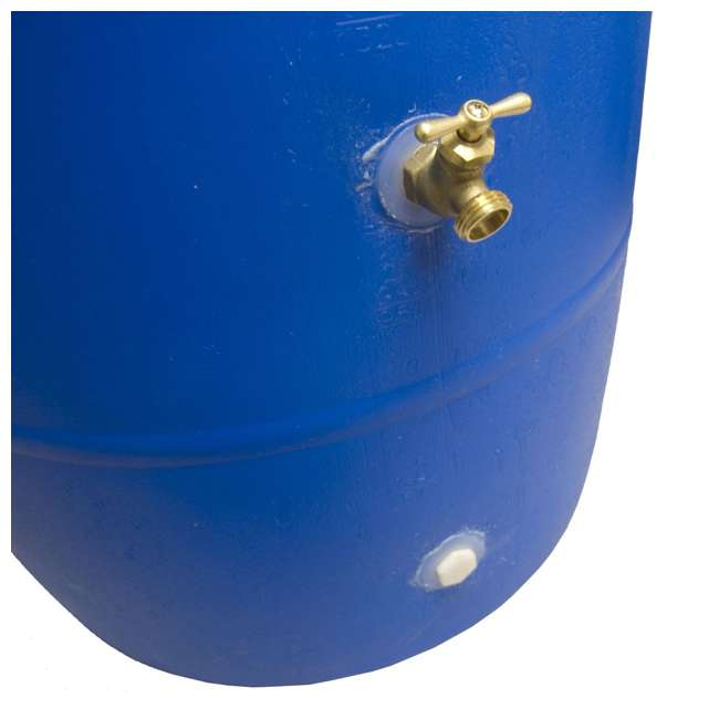 RB55-BLUE-U-A Good Ideas Blue 55G Recycled Plastic Rainwater Collection Barrel Drum (Open Box) 5