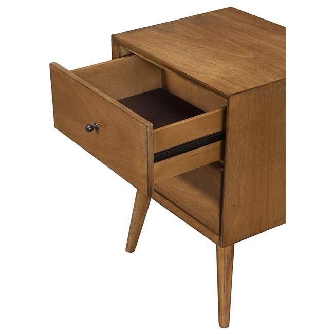 966-02 Alpine Furniture 966-02 Flynn Mid Century Modern 2 Drawer Nightstand, Acorn 2