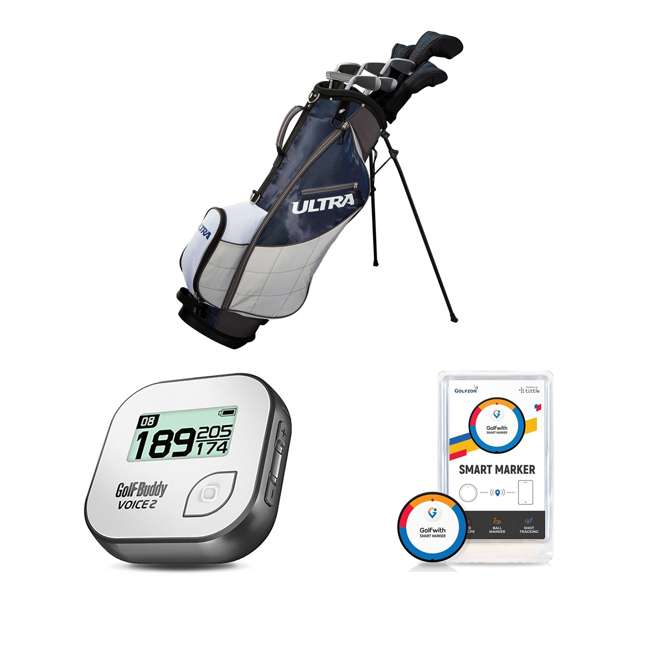 WGGC43600 + GB7-VOICE2-GREY + PGSMGps Wilson Men's Golf Clubs + Golf Buddy GPS Range Finder + Golfwith Smart Marker