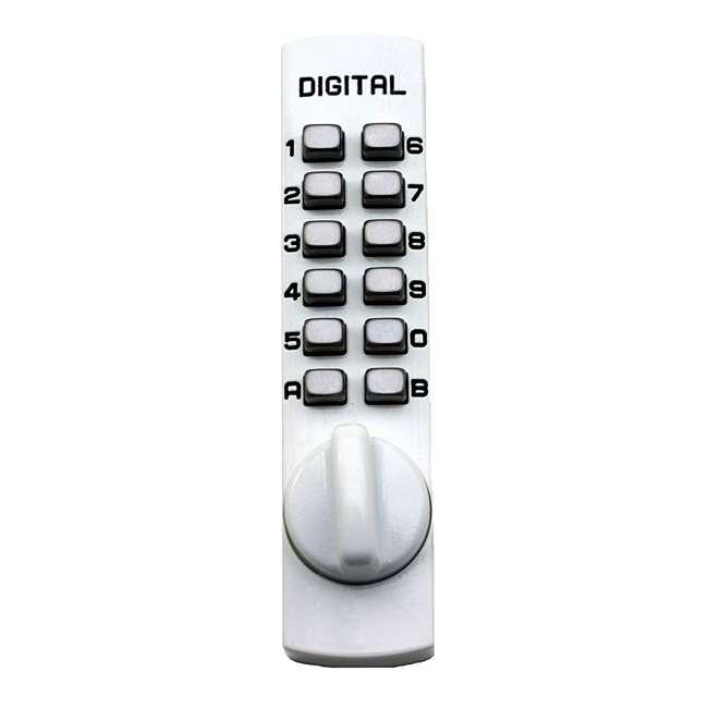 C150WH Lockey USA C150WH Mechanical Hook Bolt Keyless Digital Combination Lock, White
