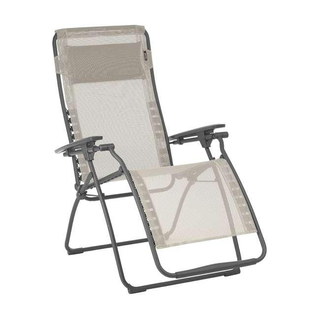 LFM3118-8548-U-A Lafuma Futura Zero Gravity Outdoor Steel Framed Lawn Recliner Chair (Open Box)