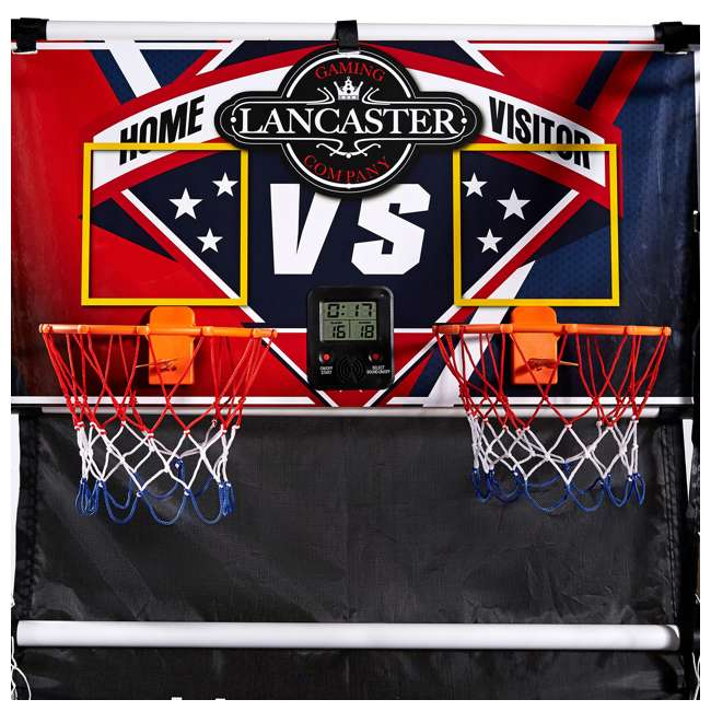 BBG025_017P-U-C Lancaster 2 Player Junior Arcade Basketball Dual Hoop Shooting Game (For Parts) 1