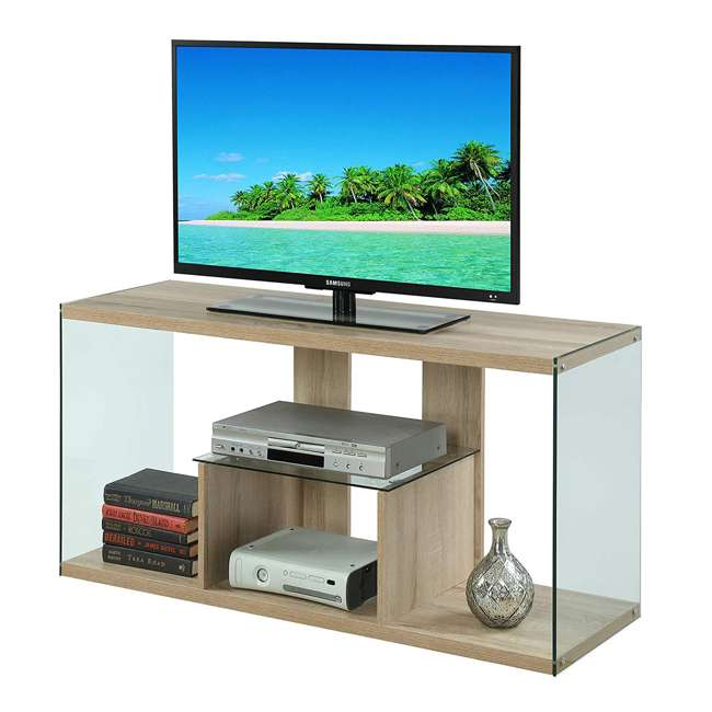 R4-0192 Convenience Concepts Soho 50 Inch Wood TV Stand Console Table, Weathered White 1