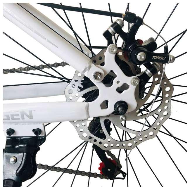 "MTB014-WH NextGen 26"" 21 Speed Shimano Foldable Hardtail Downhill Mountain Bike, White 3"