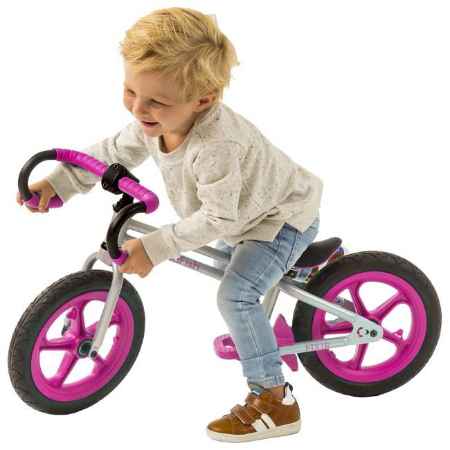 CPFX01PIN Chillafish Fixie Fixed Gear Styled Balance Bike w/ Airless Tires, Pink 2
