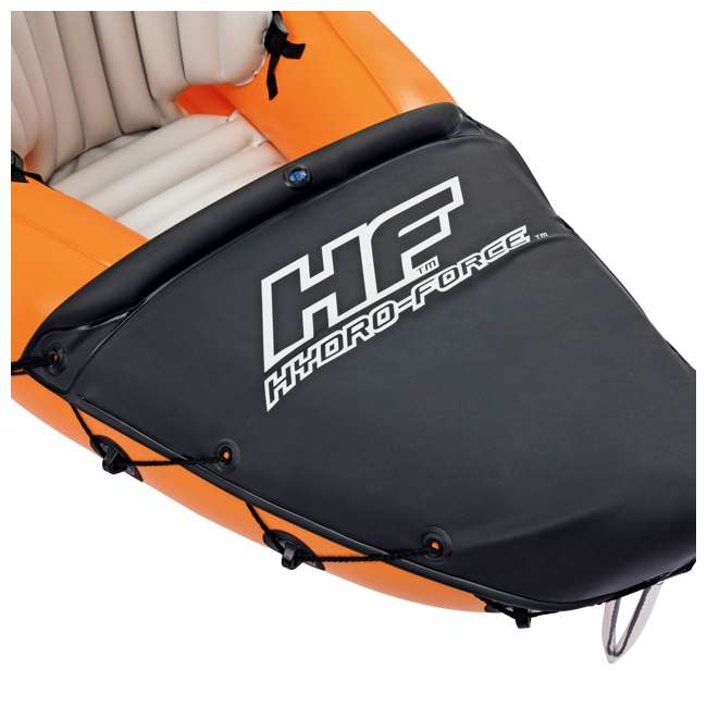 65077E-BW Bestway 126 x 35 Inches Lite-Rapid X2 Inflatable Kayak Float with Oars | 65077E 1