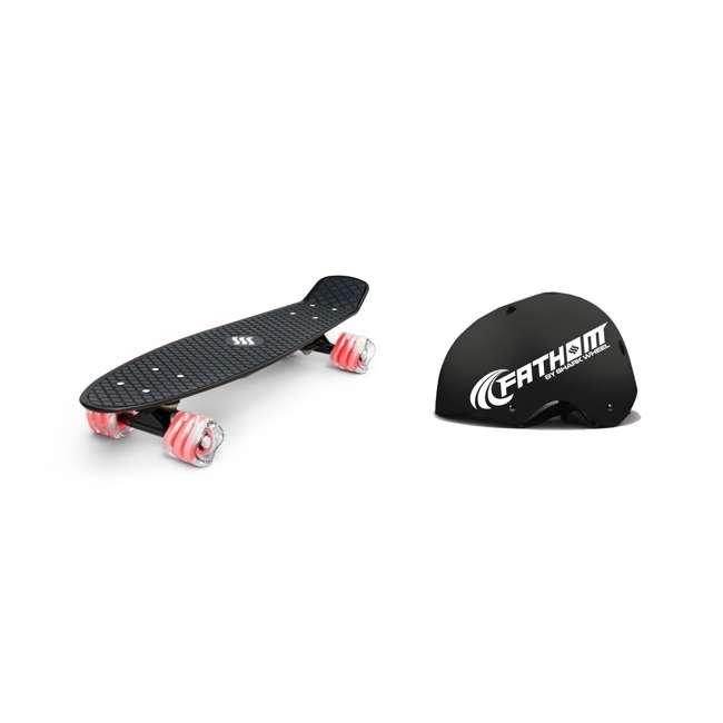 8668 + 8486 Fathom 22-Inch Skateboard | Fathom ABS Large/Extra Large Skateboard Helmet