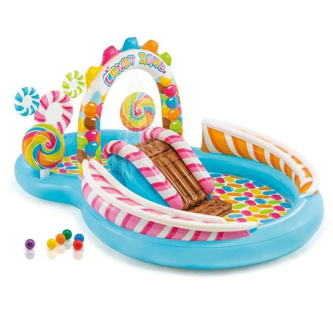 57149EP-U-A Intex  Kids Candy Zone Play Center Splash Pool w/ Waterslide (Open Box) (2 Pack)