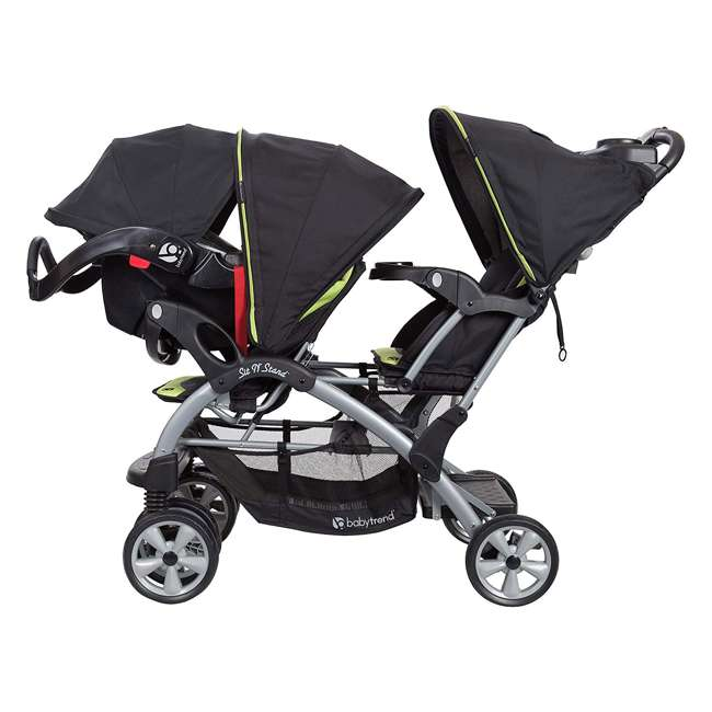 SS76B71A Baby Trend Sit N' Stand Double Stroller, Optic Green 4
