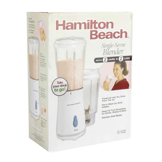 51102 + BLEND-BIBLE Hamilton Beach Single Serve Compact Blender with The Blender Bible Recipe Guide 5